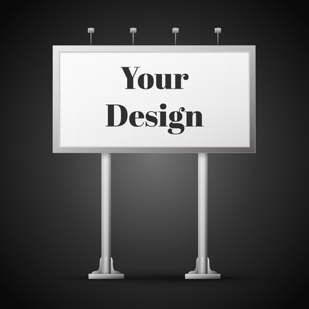 Blank billboard ready for new advertisement, excellent vector illustration, Illustration