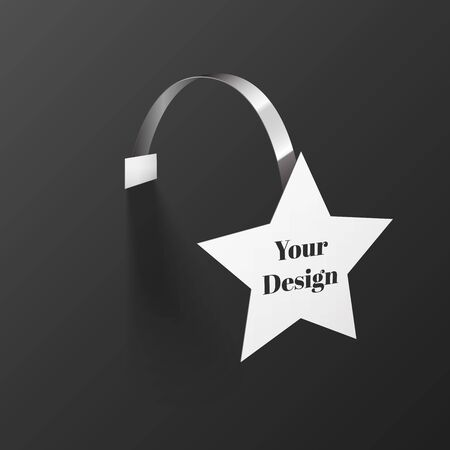 wobbler: Wobbler in the form of stars with Transparent Strip Isolated on a Black Background