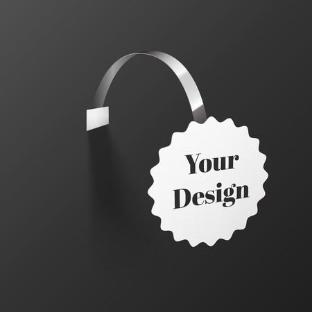 Round Wobbler with Transparent Strip Isolated on a Black Background Vector
