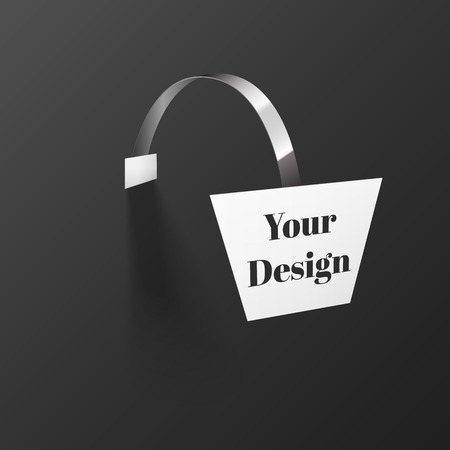 advertising wobbler: Vector Blank Wobbler with Transparent Strip Isolated on a Black Background