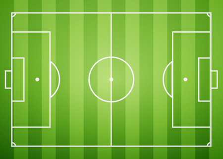 ruling: Football field, excellent vector illustration,  Illustration