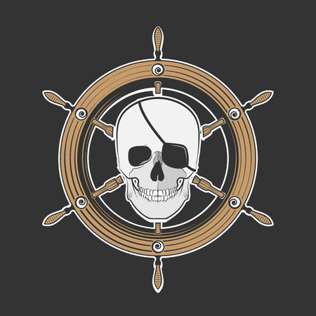 Skull Pirate, excellent vector illustration Vector