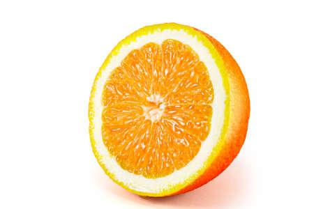 sliced orange: Sliced orange fruit  isolated on white background