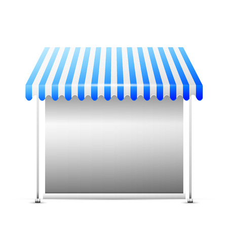 stall: Detailed vector illustration of a business stall.
