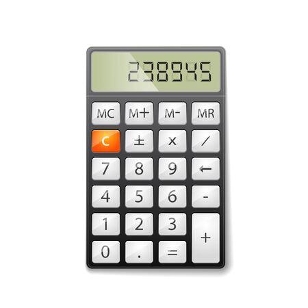 calculator: Metallic office calculator.