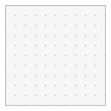 Graph grid paper background, seamless vector. Similar to paper  イラスト・ベクター素材