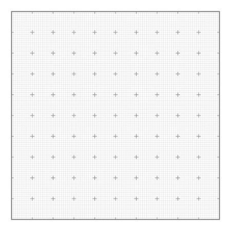 Grafiek raster papier achtergrond, naadloze vector. Vergelijkbaar met papier Stock Illustratie