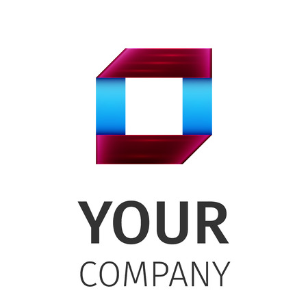looped shape: Business Abstract icon. Corporate, Media, Technology styles vector icon design template. Illustration