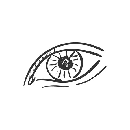 eyelids: eye doodle drawing, excellent vector illustration, EPS 10