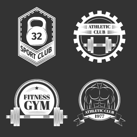 school sport: Set of Logo for sport athletic club, excellent vector illustration, EPS 10