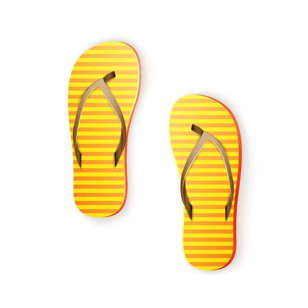 thongs: Yellow Thongs, Summertime Fun, Time For Vacation, excellent vector illustration Illustration