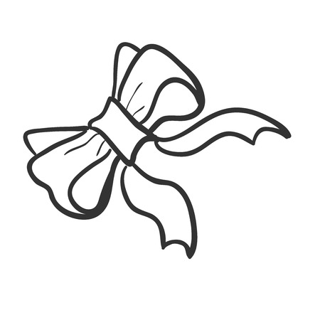 bowknot: Doodle bow-knot, excellent vector illustration,