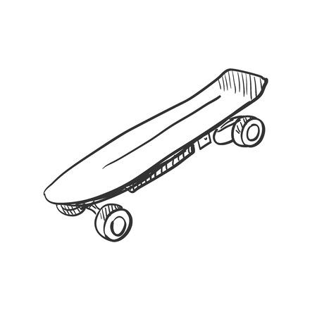 lowbrow: Skate Doodle, eccellente illustrazione vettoriale,