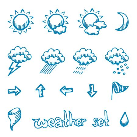 weather symbols: Weather symbols set, excellent vector illustration,