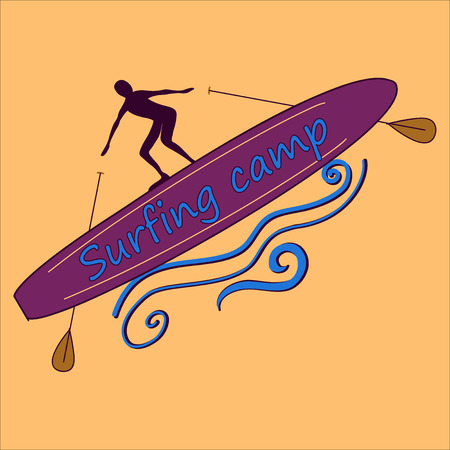 lable: Colored surf lable, excellent vector illustration, EPS 10 Illustration