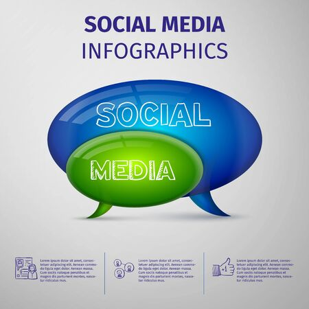 Social media infographics. Hand signs vector. Infographic. Good concept. Vector