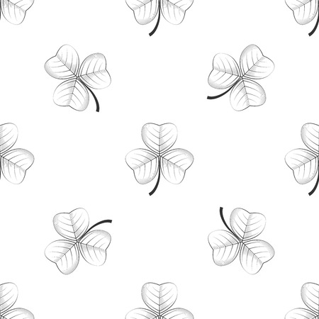 shamrock seamless: Vector seamless retro pattern, shamrock. excellent vector illustration, EPS 10 Illustration