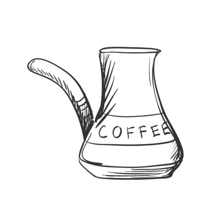 brewing: doodle Turk to brew coffee for brewing coffee, excellent vector illustration,