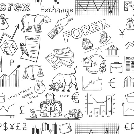 finance forex hand drawing pattern, excellent vector illustration,