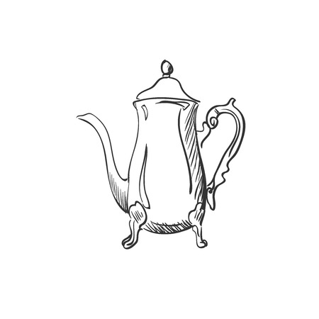coffee pot: doodle coffee pot, excellent vector illustration,
