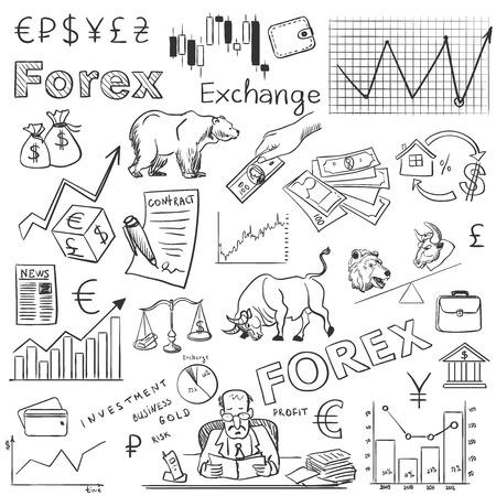 ファイナンス外国為替手図面、優秀なベクトル図