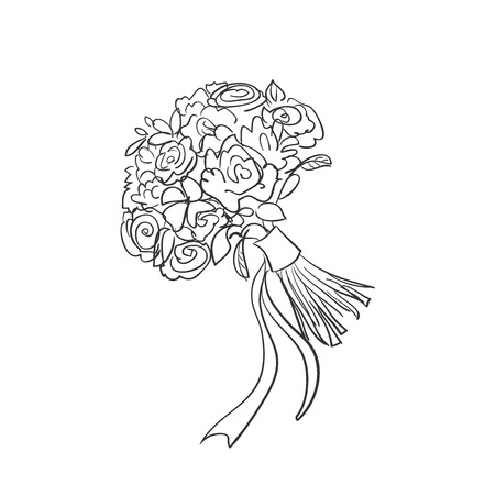 Floral bouquet for your design, excellent vector illustration, EPS 10 Illustration