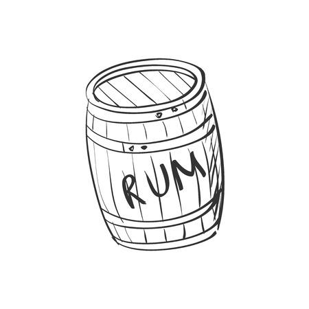 image doodle barrel of rum