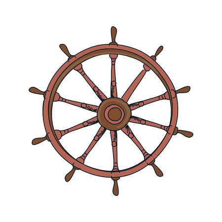 roer: image of the doodle ship helm