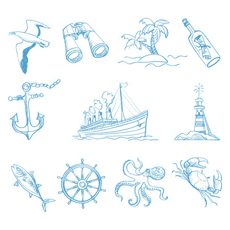 boating: Seamless background on boating theme for your design