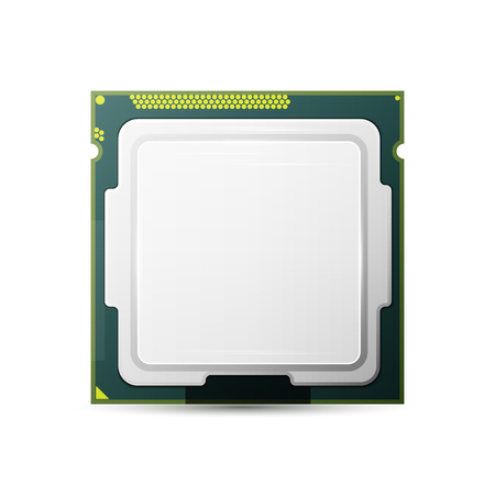 Processor. Computer Hardware. Isolated on white