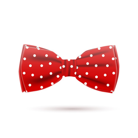 the red bow tie on a white background, excellent vector illustration