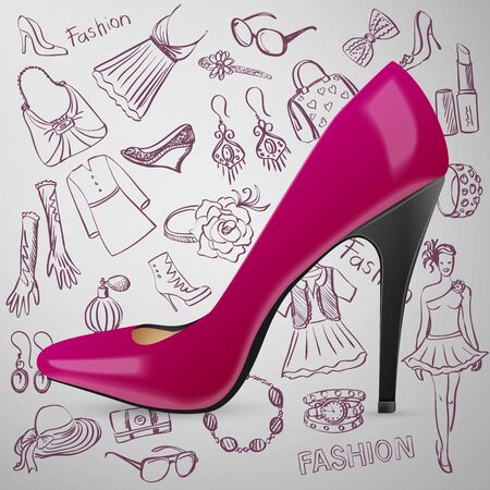 opentoe: Modern womens shoes and hand draw Fashion icon