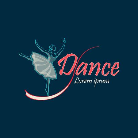 danseuse: Danse Logo du ballet classique, figure danseuse de ballet Illustration