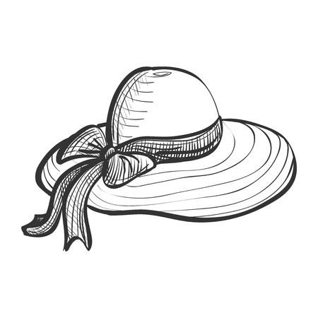 doodle woman hat, excellent vector illustration, EPS 10