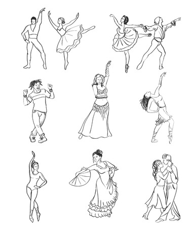 jive: Hand drawn dance icons, excellent vector illustration, EPS 10
