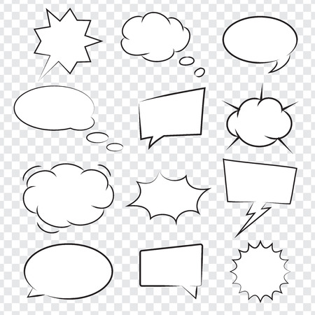 Collection of Comic book speech bubbles, excellent vector illustration, EPS 10