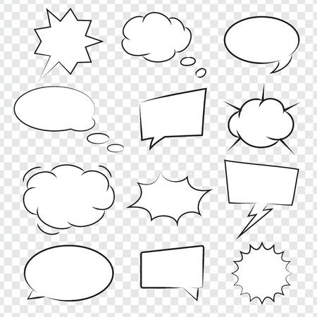 Het verzamelen van Comic book tekstballonnen, uitstekende vector illustratie, EPS-10 Stock Illustratie