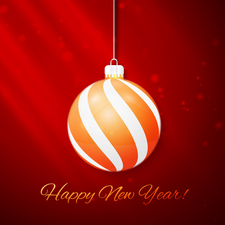 new year greeting: Christmas and New Year greeting card. Vector illustration.