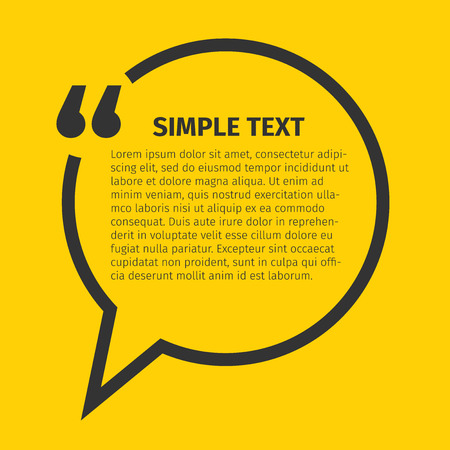 reference: Square quote text bubble, excellent vector illustration, EPS 10 Illustration