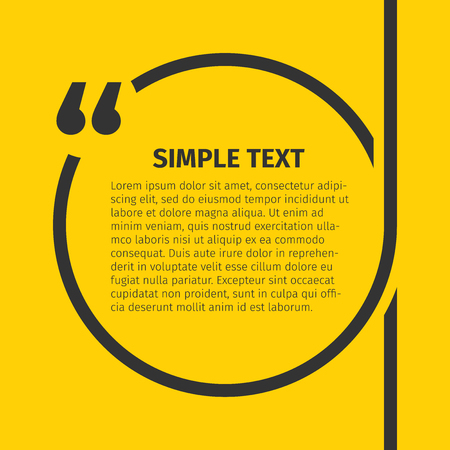 Square quote text bubble. Inspirational Quote. Text Speech Bubble. You can do anything. Vector illustration.