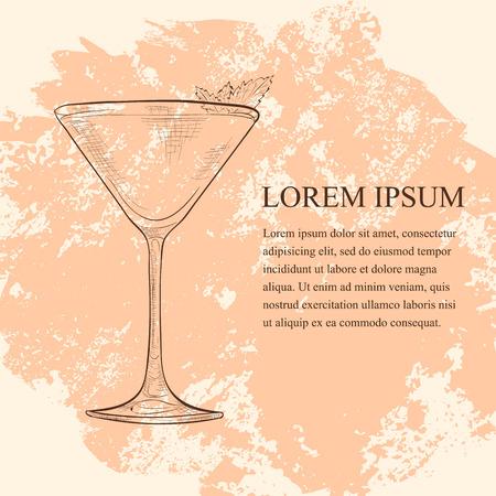 Derby scetch is een cocktail die gin, perzik bitter en muntblaadjes bevat