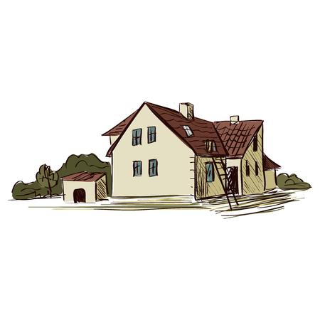 oveja negra: Granja Doodle. Aislado en el fondo blanco. Excelente ilustraci�n vectorial, EPS 10
