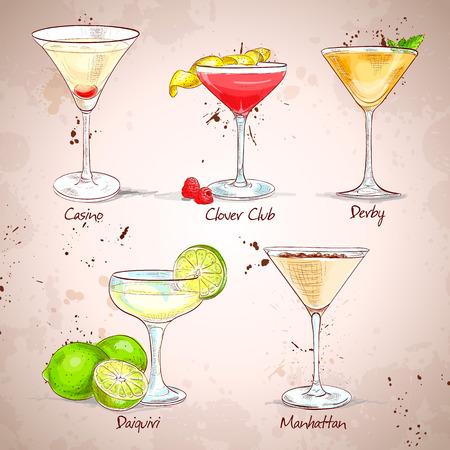 The Unforgettables Cocktail Set , excellent vector illustration, EPS 10 Vettoriali