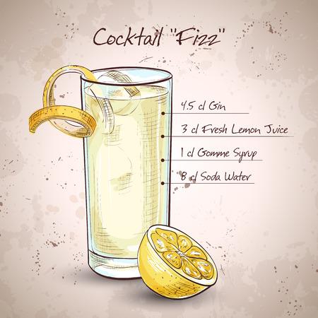 agua con gas: C�ctel Gin Fizz