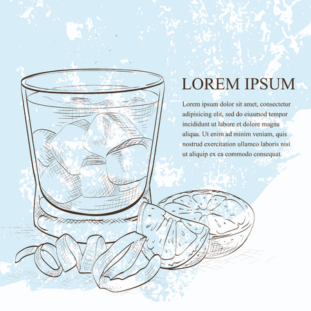 alcoholist: Negroni alcoholic cocktail sketch