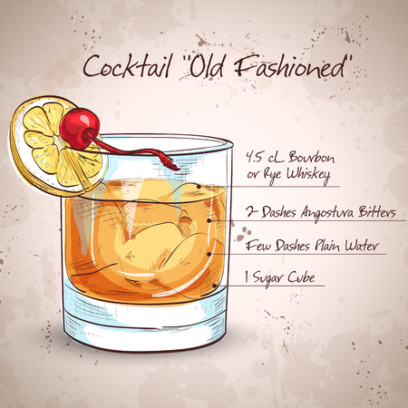 Old fashioned cocktail Фото со стока - 48084876