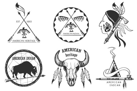 tomahawk: Set of american indian emblems