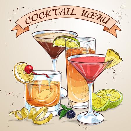 classics: Template designs of Contemporary Classics Cocktails Menu