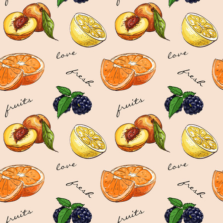 mix fruit: Pattern fresh fruit. Mix fruits background. Healthy eating, dieting concept, clean eating.