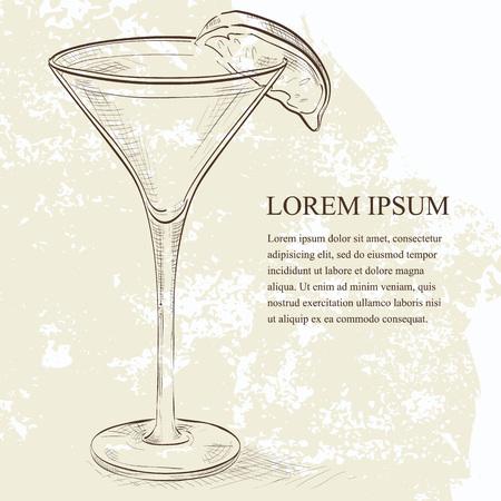 kamikaze: Kamikaze scetch cocktail, consisting of Vodka, orange liqueur, lime
